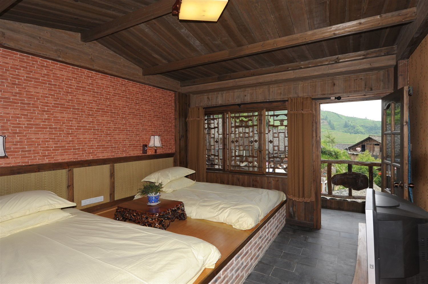 Longji star wish resort longji rice terraces china for 100 rice terrace drive columbia sc