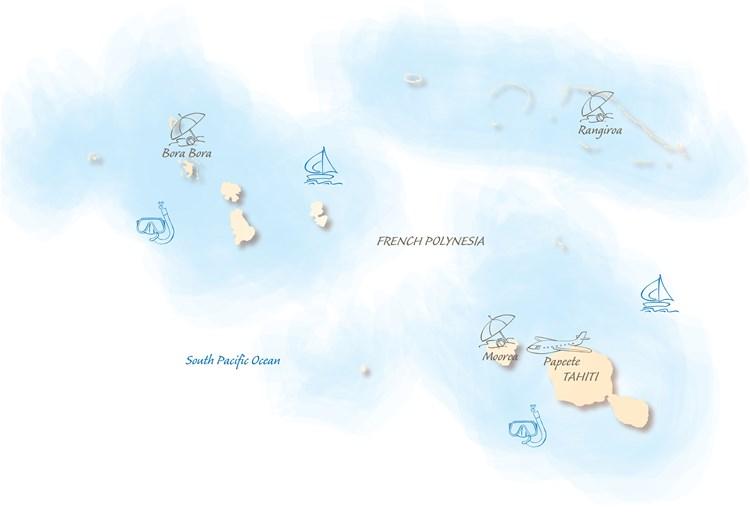 Tahiti Holiday Highlights Map