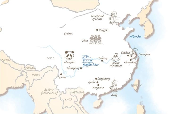 China Holiday Highlights Map