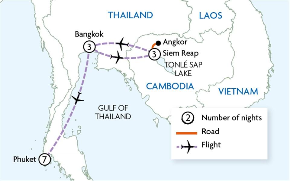 Bangkok, Angkor & Phuket