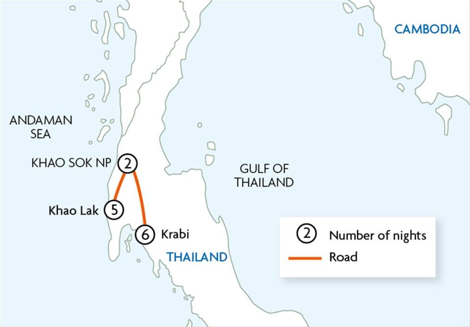 Khao Lak, Khao Sok National Park & Krabi