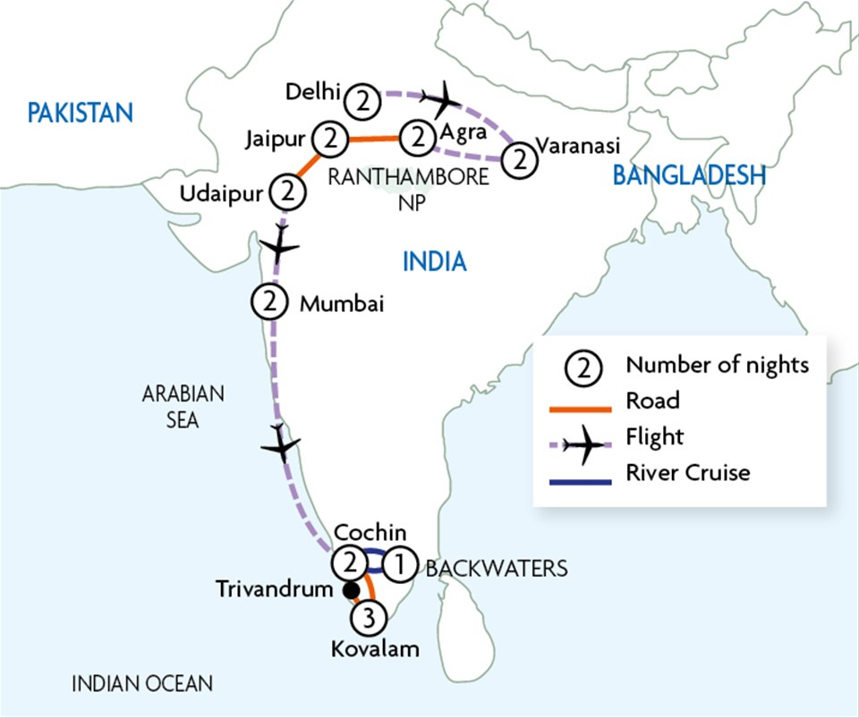 Majestic India - North and South   Touring with Trailfinders
