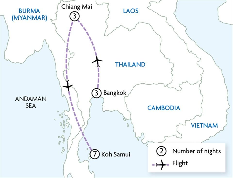 Bangkok, Chiang Mai & Koh Samui