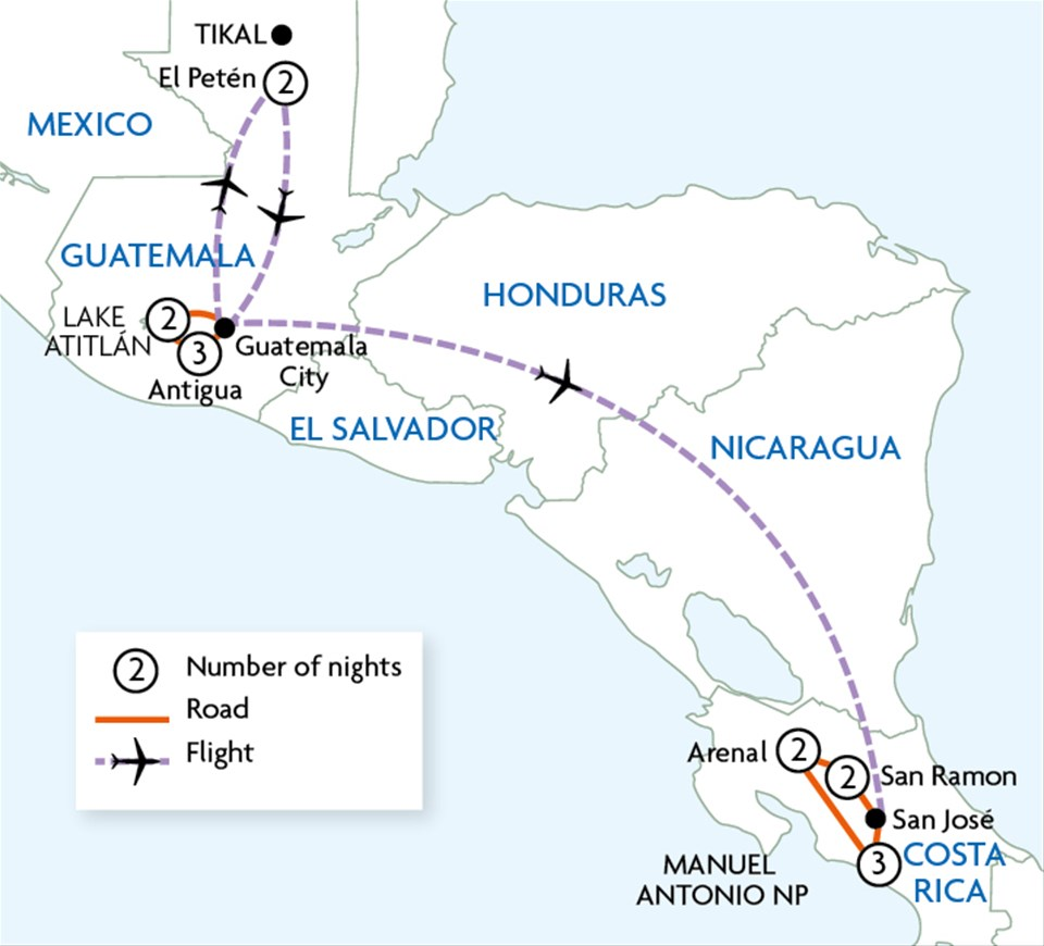 Guatemala & Costa Rica Discovery