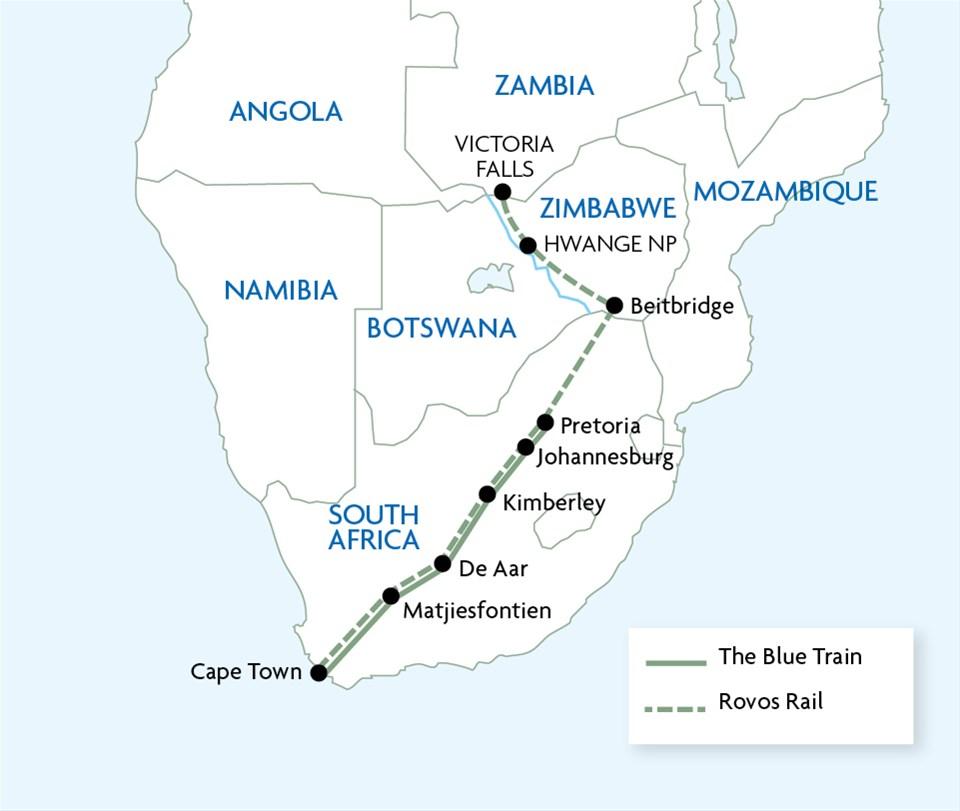Rovos Rail - Pretoria to Victoria Falls