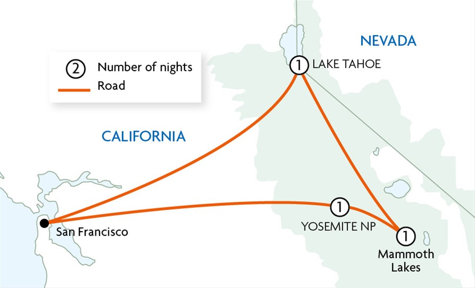 Yosemite and Tahoe Adventure Tour