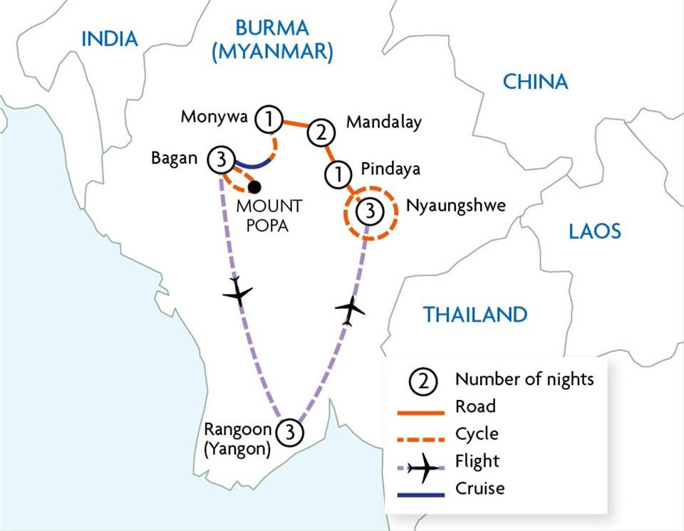 Cycle Burma (Myanmar)