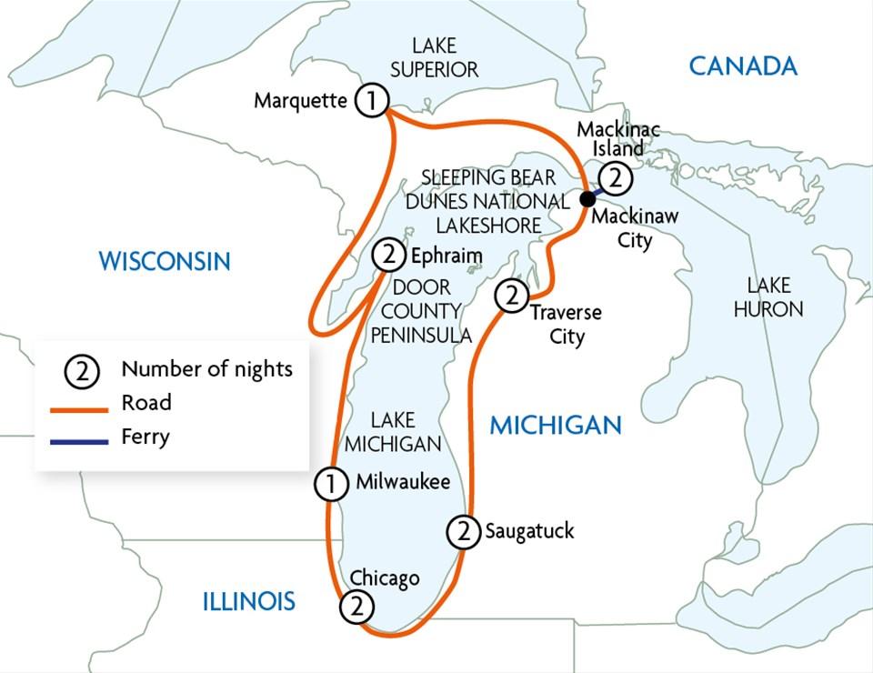 Great Lakes Ferry Tour