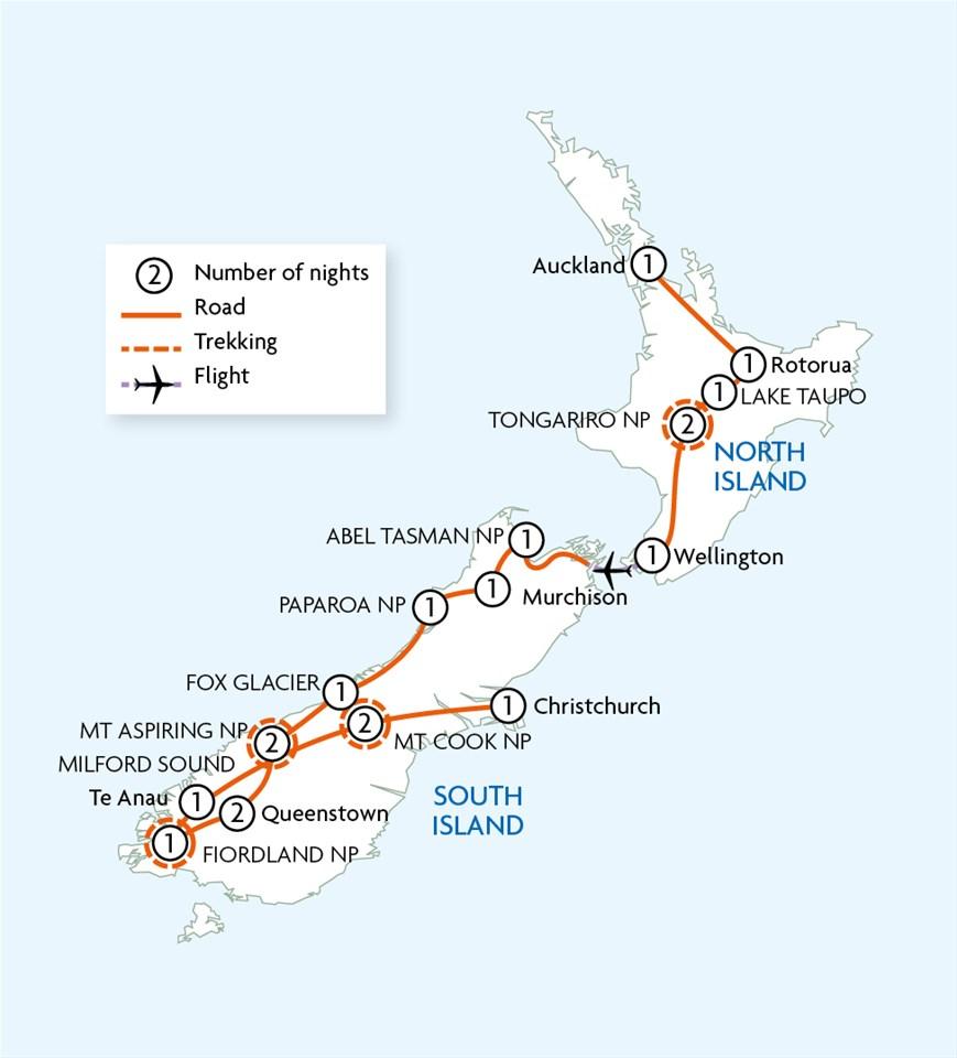 Trekking in New Zealand