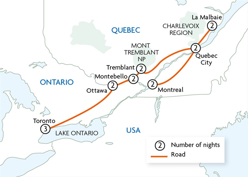 Fairmont Hotels Canada Map Fairmont Hotels of Eastern Canada Tour   Trailfinders