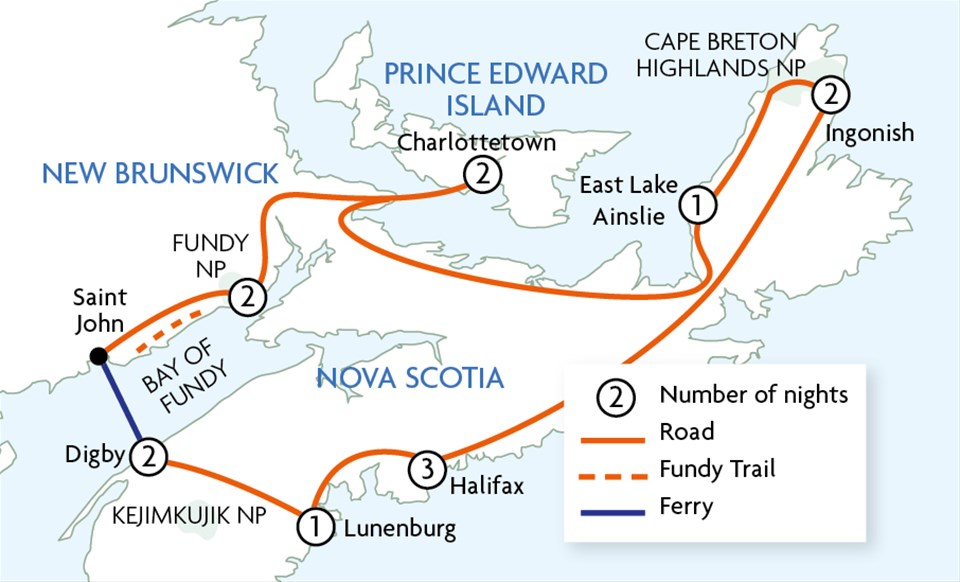 Maritimes Trails & Whales - Motorhome Holiday