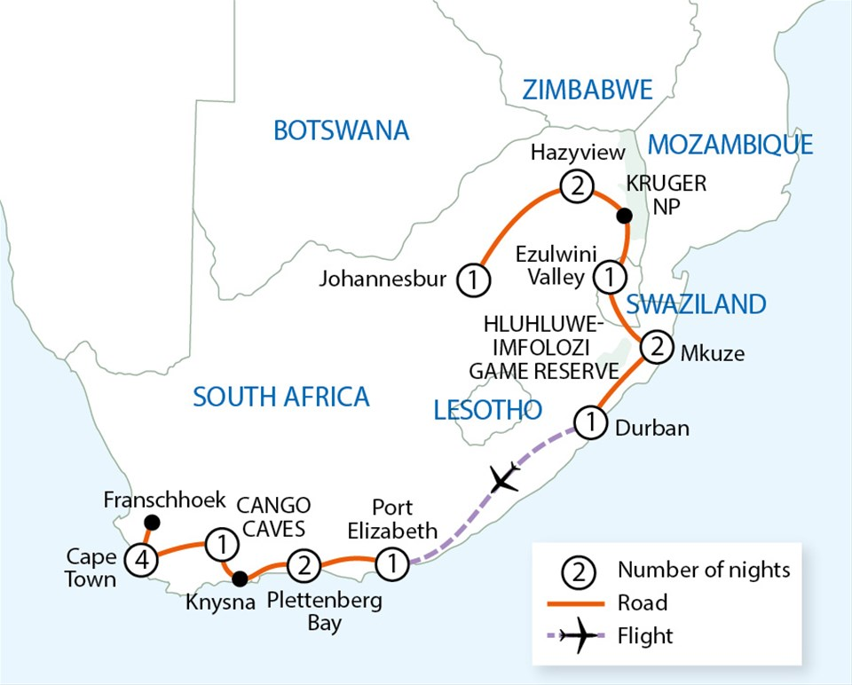 Grand tour of south africa johannesburg to cape town tour trailfinders - Cape town to port elizabeth itinerary ...