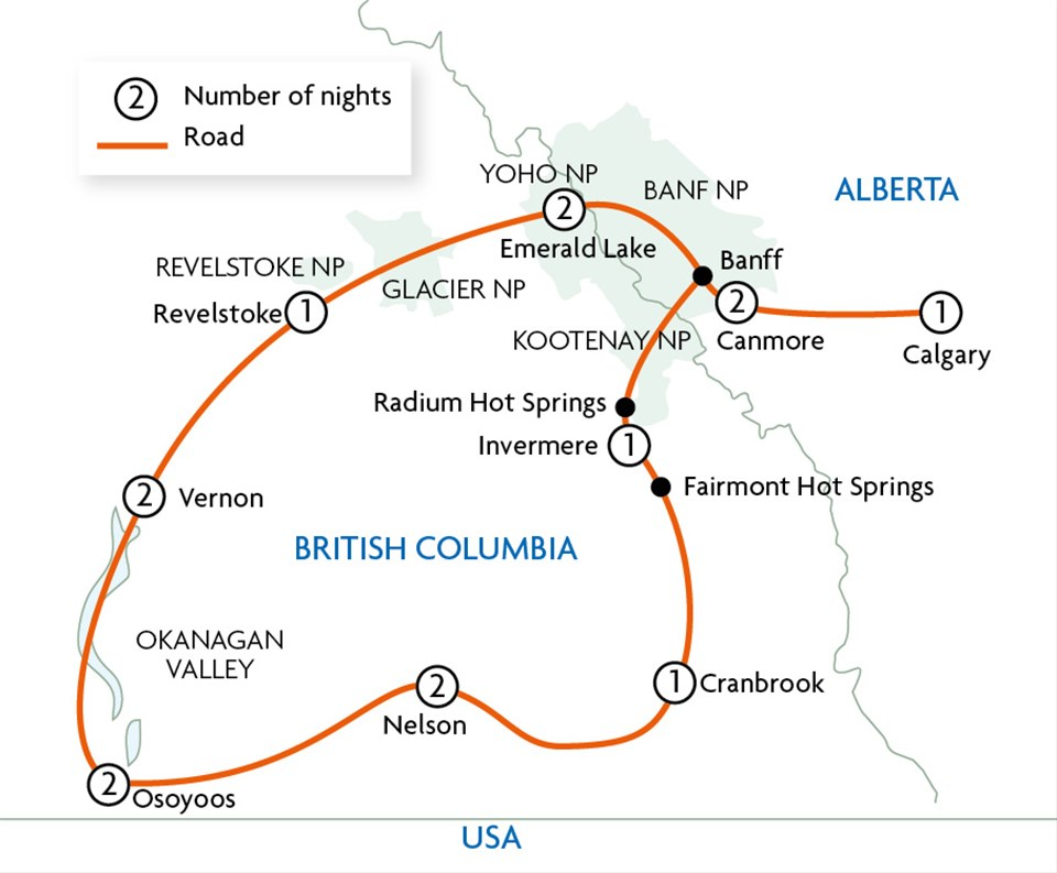 Kootenay Rockies & Okanagan Valley Loop