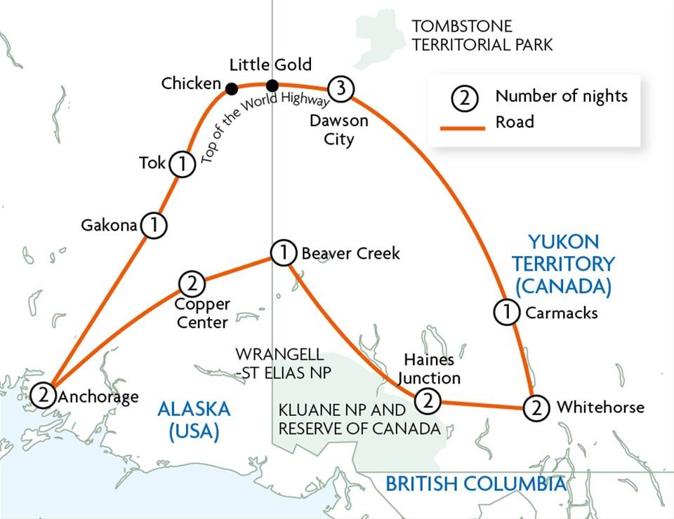 Alaska & Yukon's Golden Frontiers - Motorhome Holiday