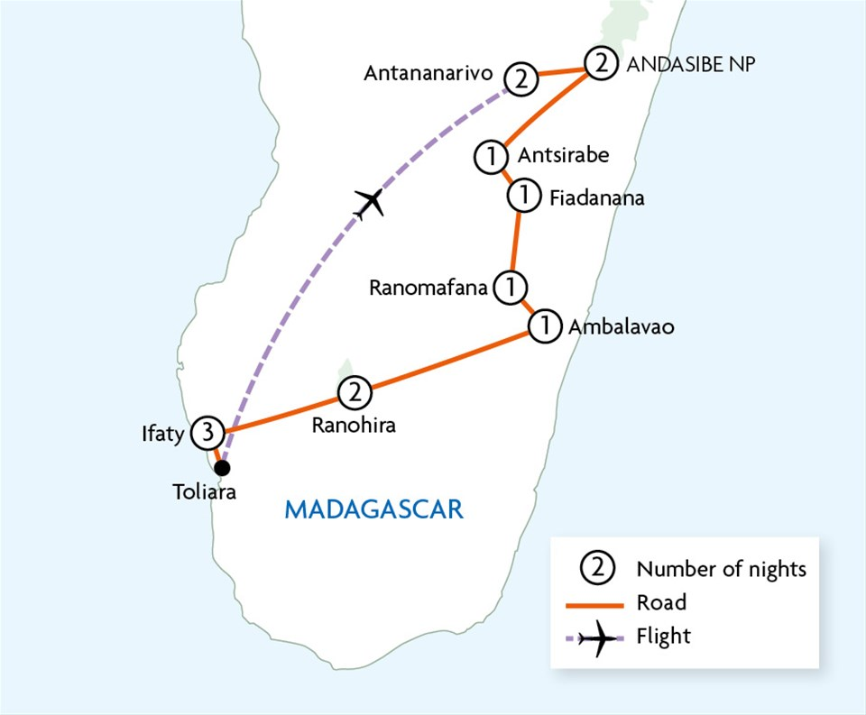Highlights of madagascar touring with trailfinders view map image gallery publicscrutiny Choice Image