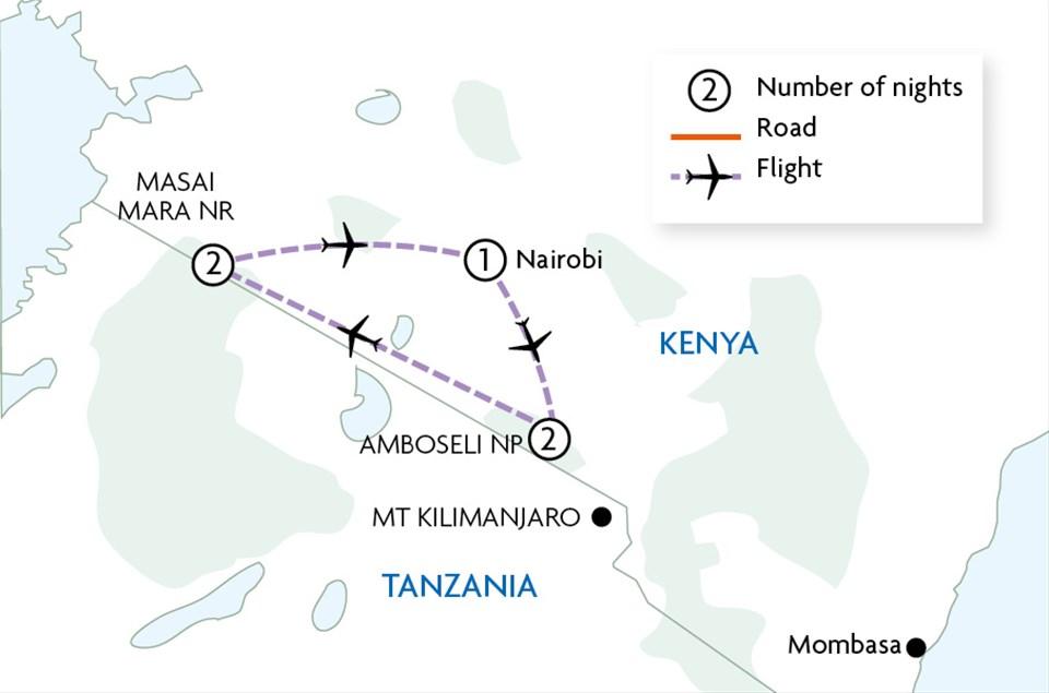 Amboseli & Masai Mara Explorer