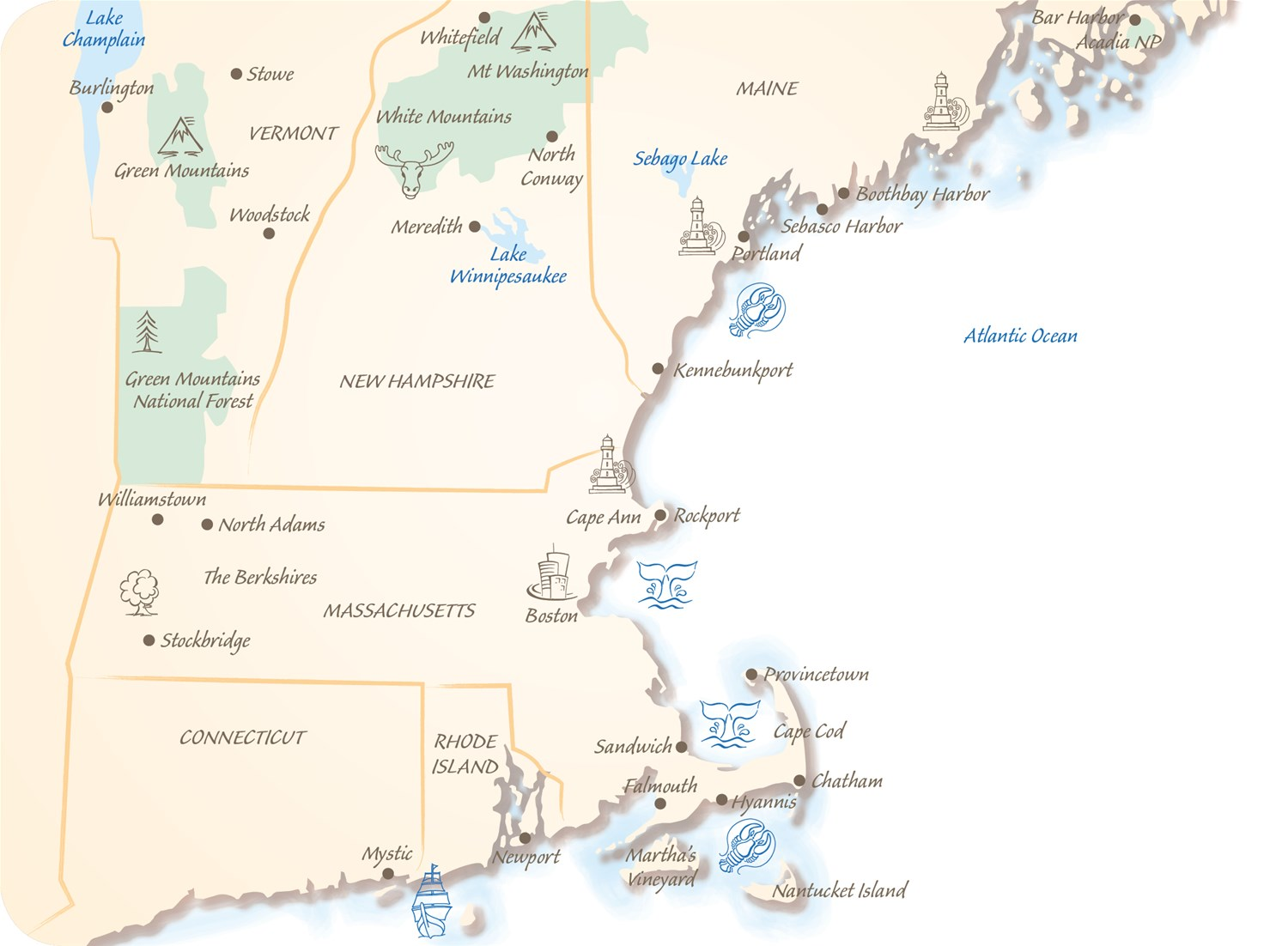 Where Is New England In The Usa Map.Holidays To New England Trailfinders