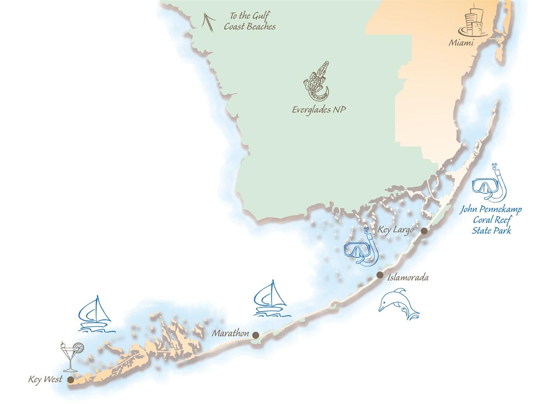 Florida Keys Map.Holidays In The Florida Keys Trailfinders