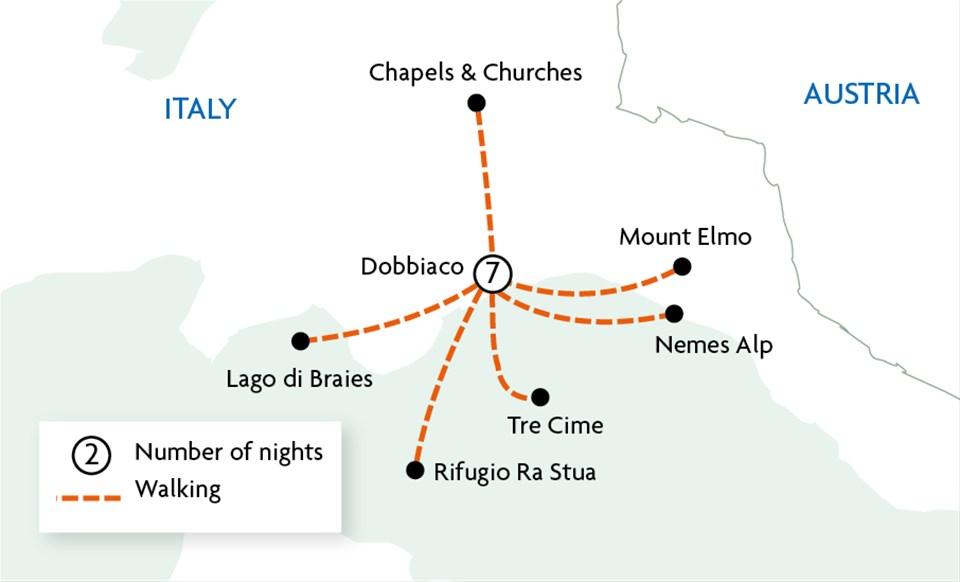 Walking in the Italian Dolomites
