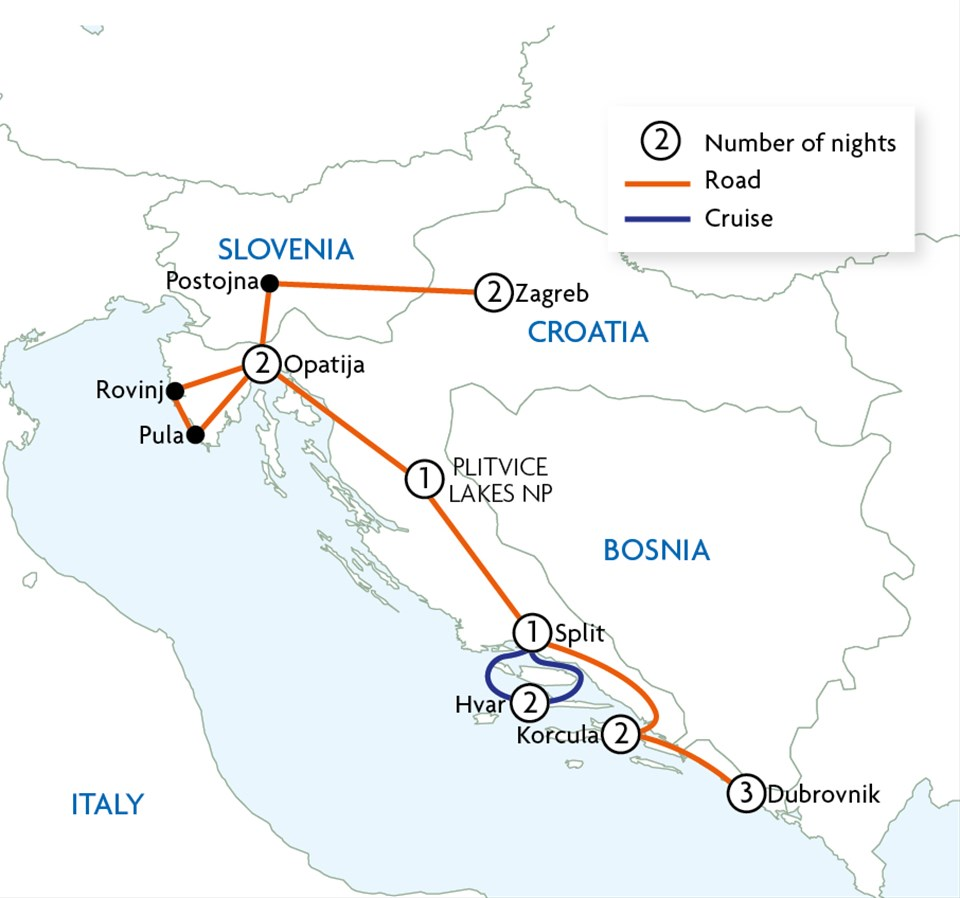 Country Roads of Croatia