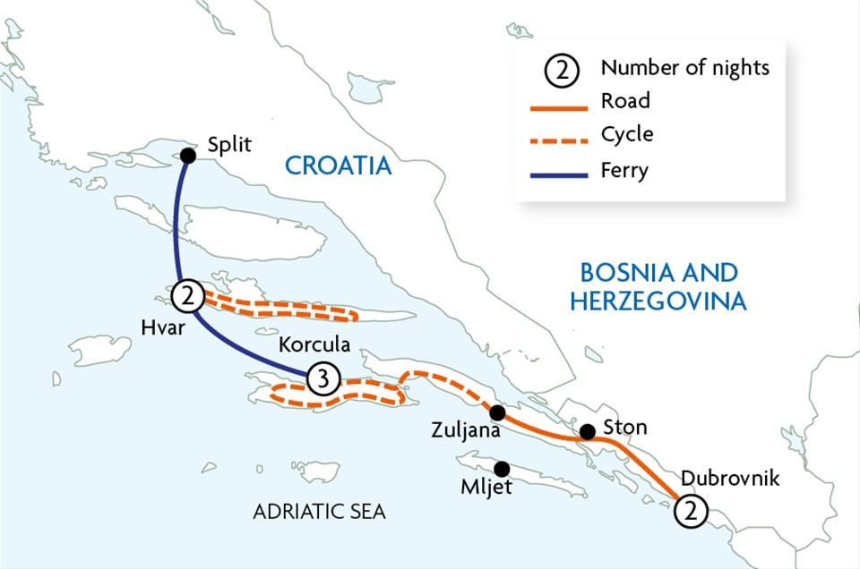 Cycling the Dalmatian Coast