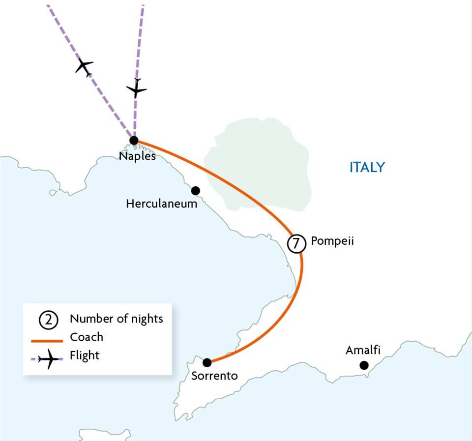 Pompeii Sorrento & the Bay of Naples