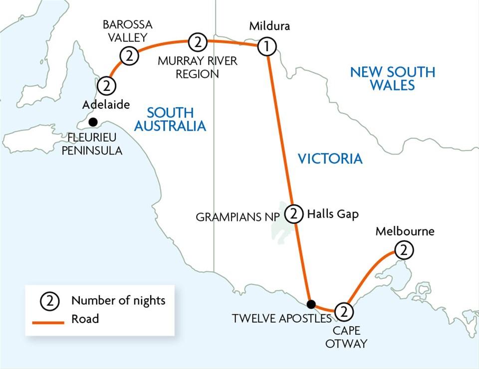 Nature & Gourmet Retreats Of Southern Australia
