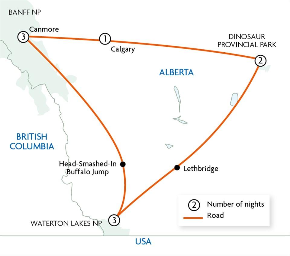 Alberta's Prairies, Peaks & Dinosaurs - Motorhome Holiday