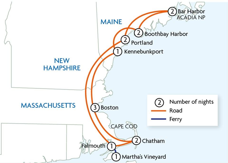 Lobsters & Lighthouses of Massachusetts & Maine