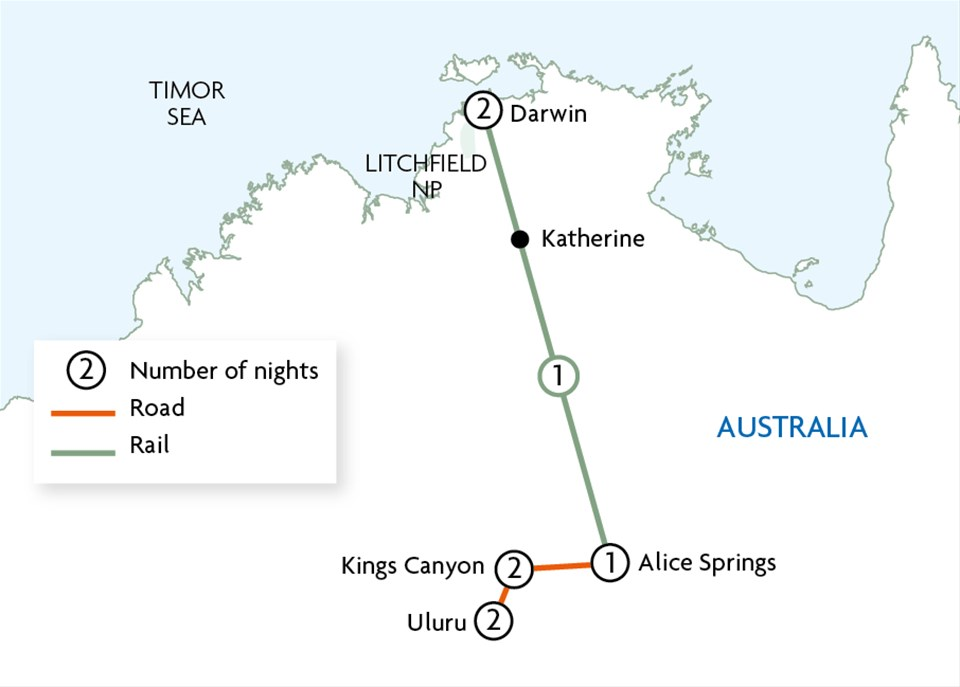 Top End by Rail & Outback Wilderness