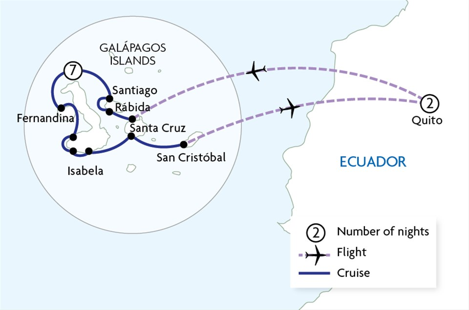 Galapagos - West, Central & East Islands aboard the Estrella