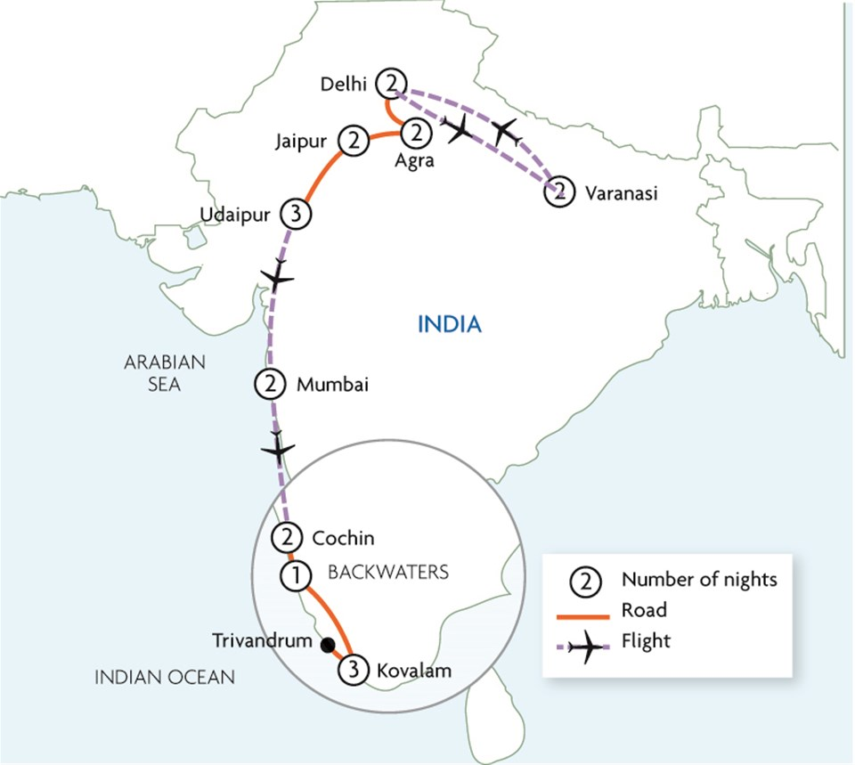 Majestic India - North and South