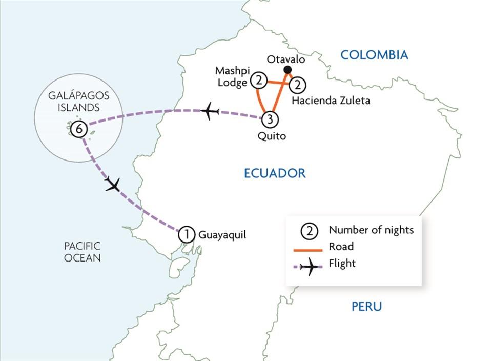 Northern Ecuador & the Galapagos in Style