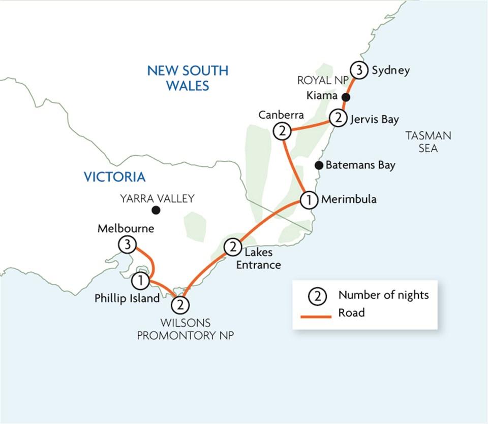 Melbourne To Sydney Shoreline