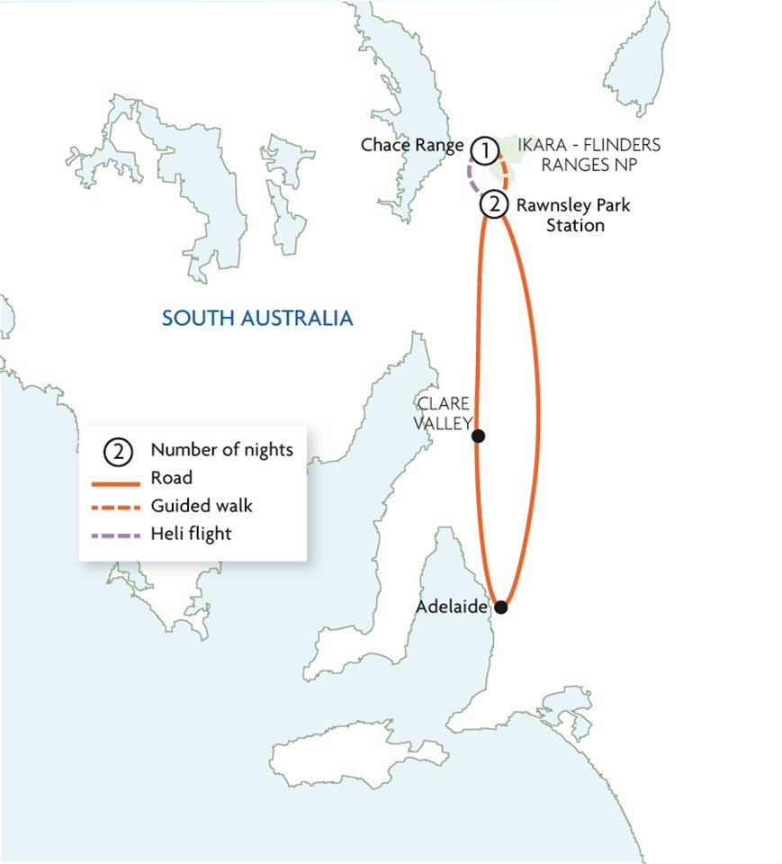 Flinders Ranges: Heli Hike & Camp Extension