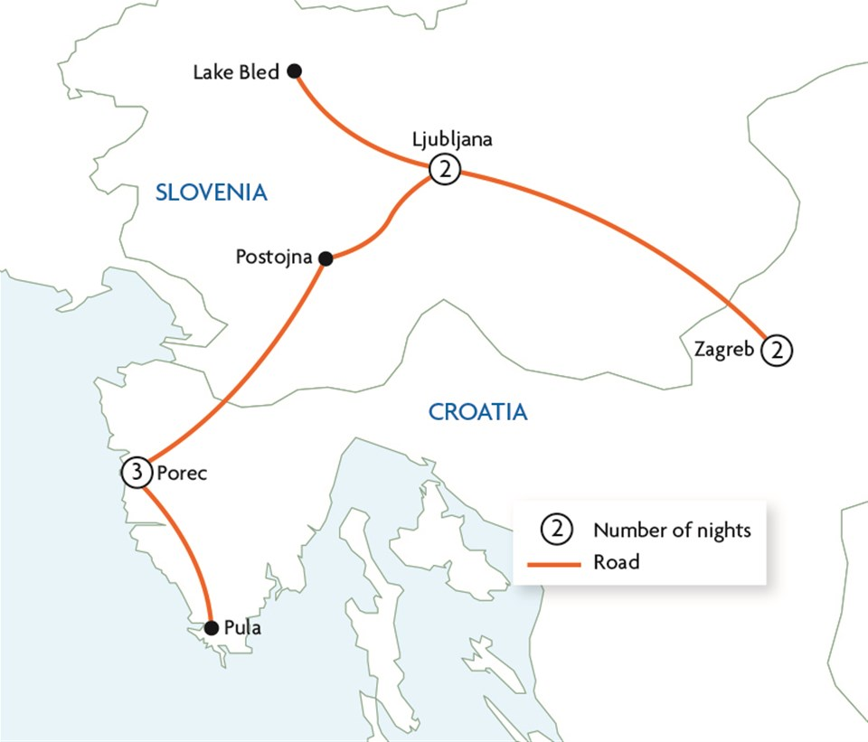 Highlights of Northern Croatia and Slovenia