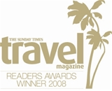 The Sunday Times Travel Magazine Readers' Awards 2008